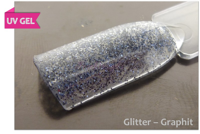 Glitter UV Gel - Zwart - Graphit- 5ml