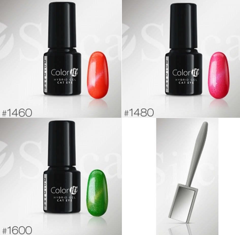 Color-it! Premium Hybrid gel 6gr. - Cat Eye Set - 3x Color + Mag