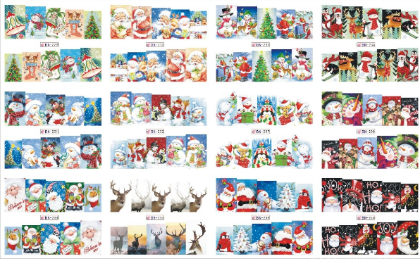 Vel met 12 x 10 full cover Kerst water decals