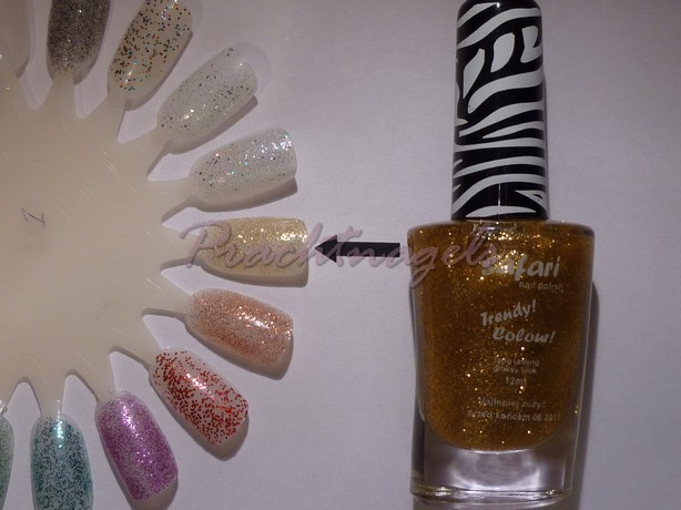 Nagellak Safari - 12ml - Glitter - Goud