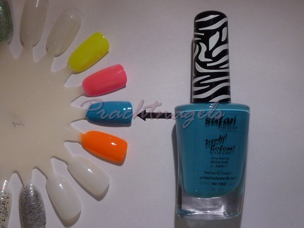 Nagellak Safari - 12ml - nr. 102 - Neon Blauw