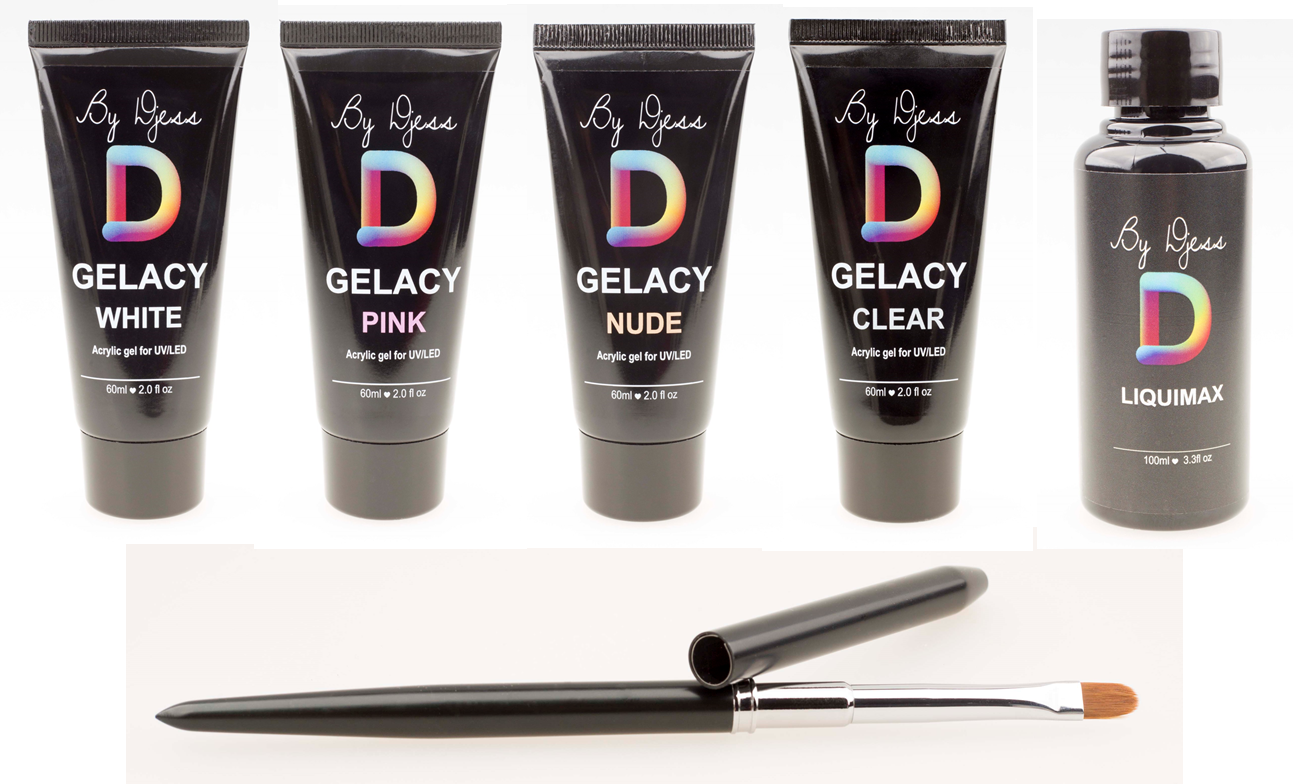 GELACY - Set - 4x tube 60ml + Liquimax + Penseel