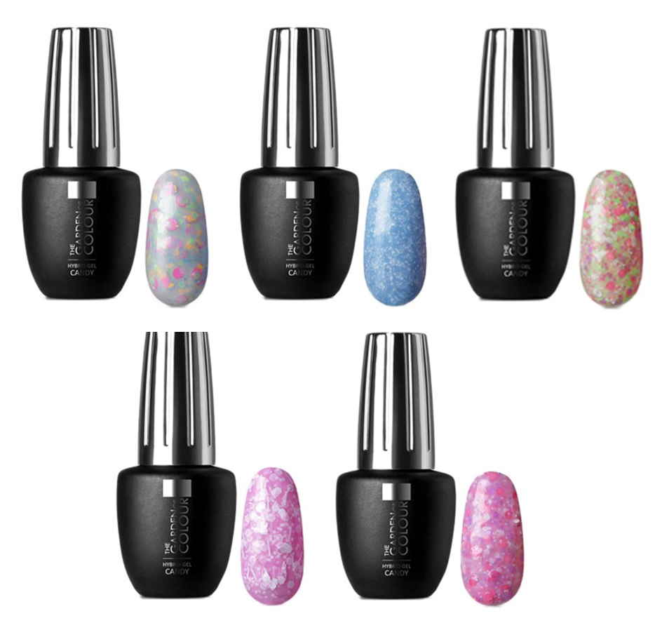 Garden of Colour - Hybrid gel 9ml - Candy Color - Set 5 kleuren