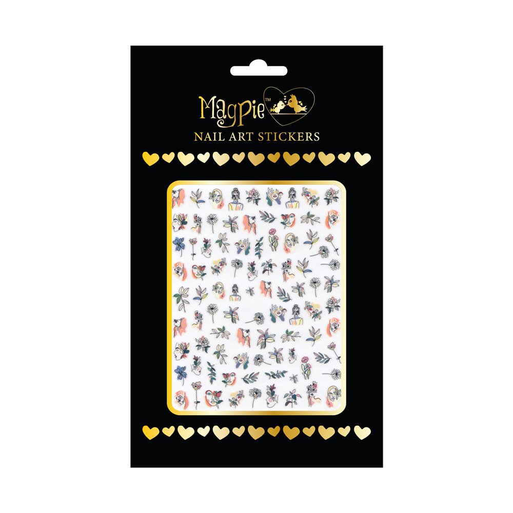 Magpie - Nail-art Sticker - #068