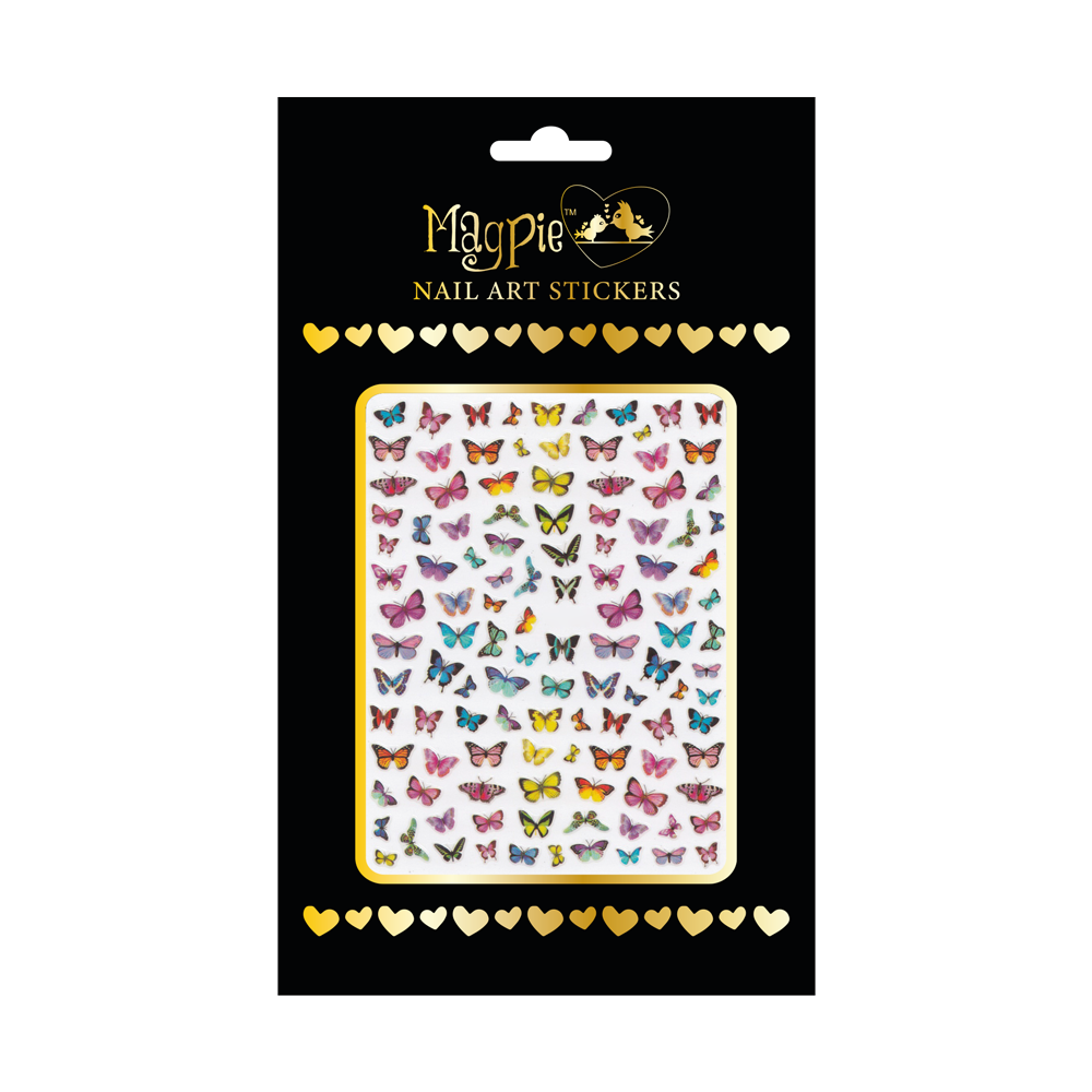 Magpie - Nail-art Sticker - #070 (Vlinders)