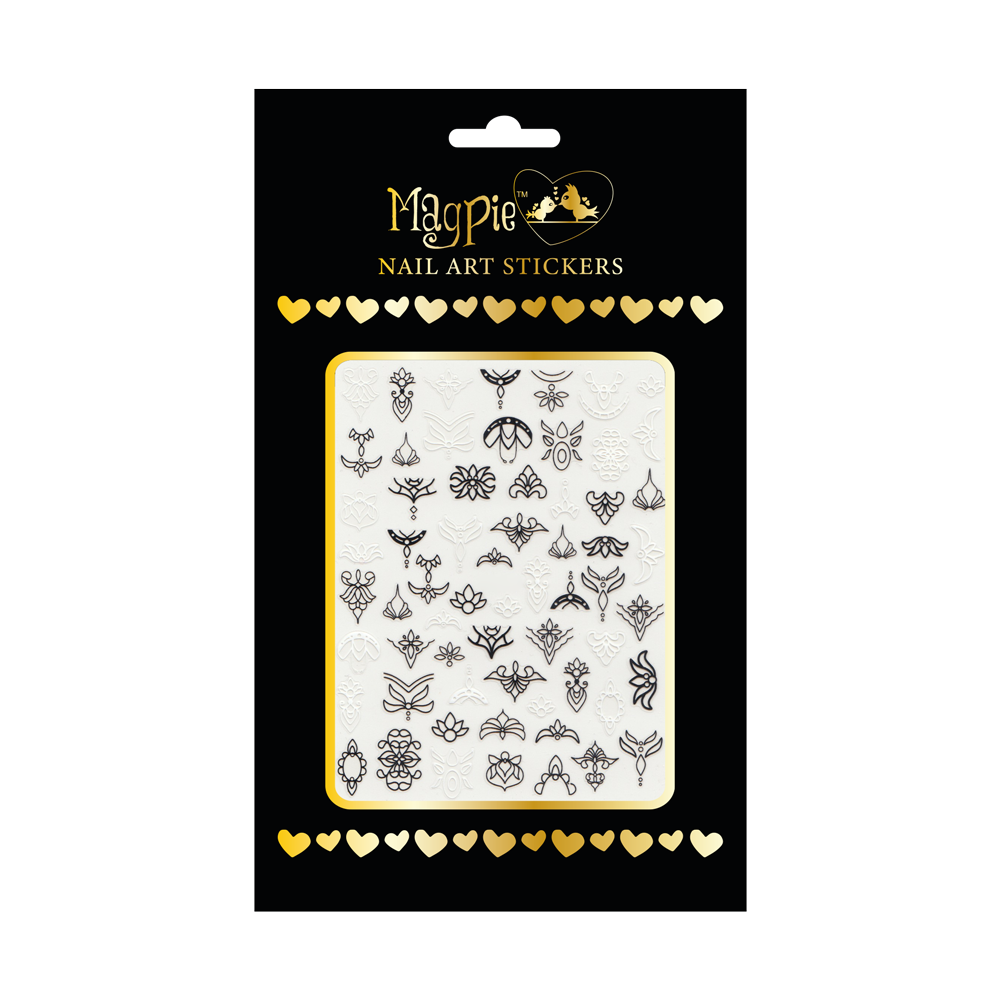 Magpie - Nail-art Sticker - #071
