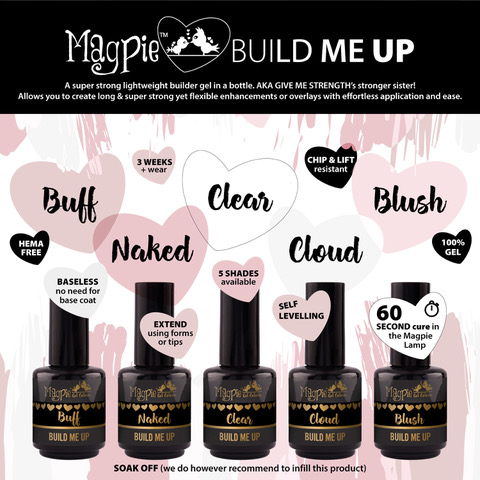 Magpie - Build Me Up - SET van 5 kleuren