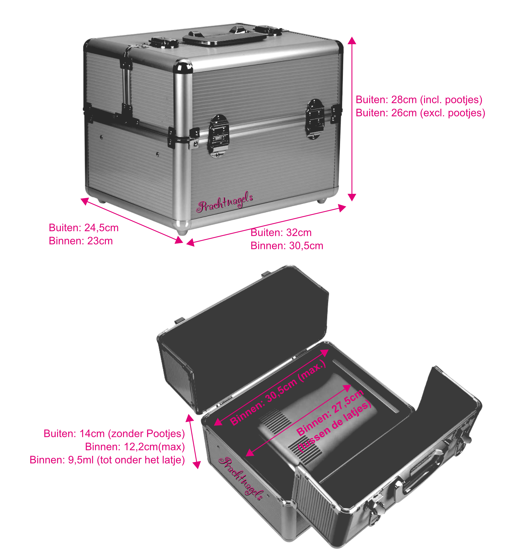 Verwonderlijk Nagelstyliste koffer - Roze [CASE-PINK-001] - €55.00 AJ-27