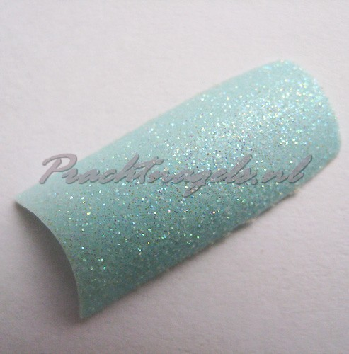 Turquoise glitter tips - 100 tips + tipsbox