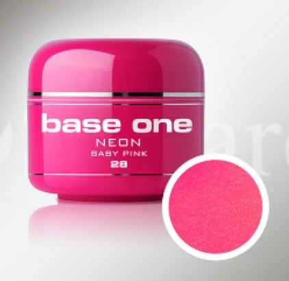 Shimmer Neon Color UV Gel - #28 - Baby Pink - 5ml