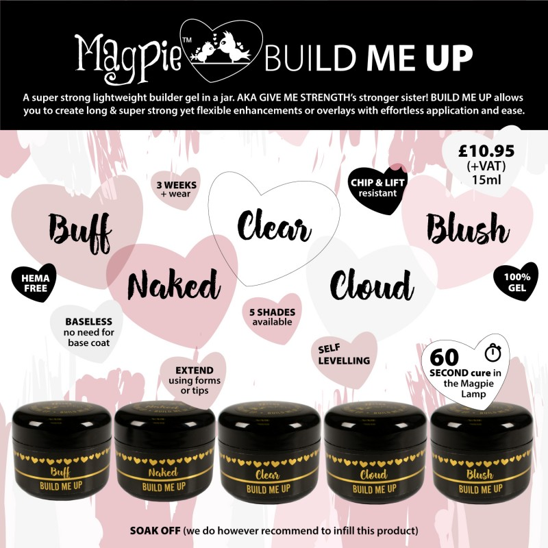 Magpie - Build Me Up - SET van 5 kleuren - 25gr in pot
