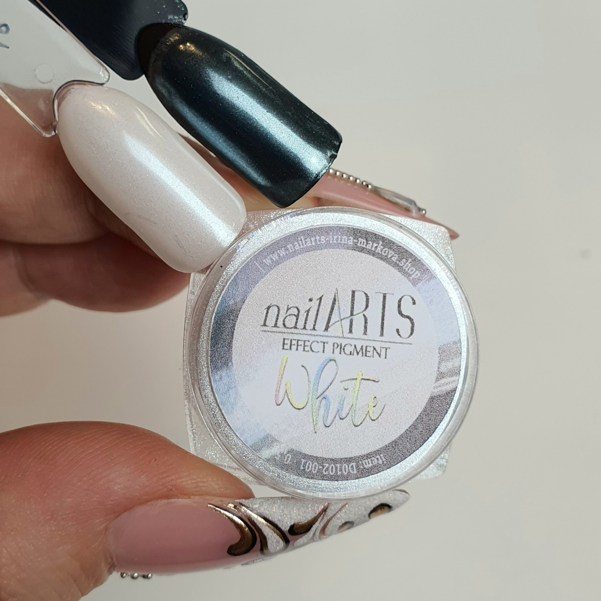 NailARTS - Effect Pigment - WHITE - 0,5gr