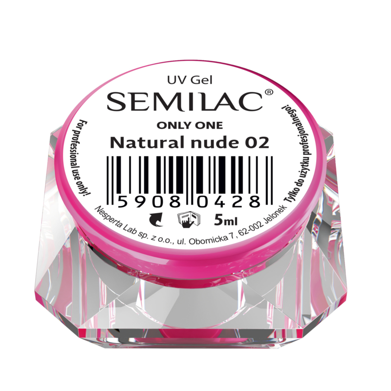 Semilac - UV Builder Gel - Only One -Cover- Natural Nude 02- 5ml