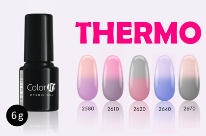 Color-it! Premium Hybrid gel - 6gr - Thermo set - 5 x Color
